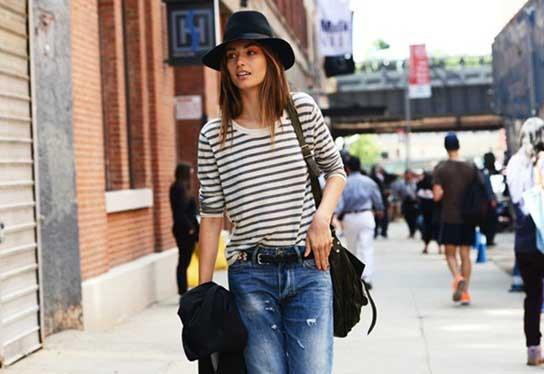 street-style-new-york-fashion-week-spring-2013-stripes-top-boyfriend-jeans-hat_vintagesoul