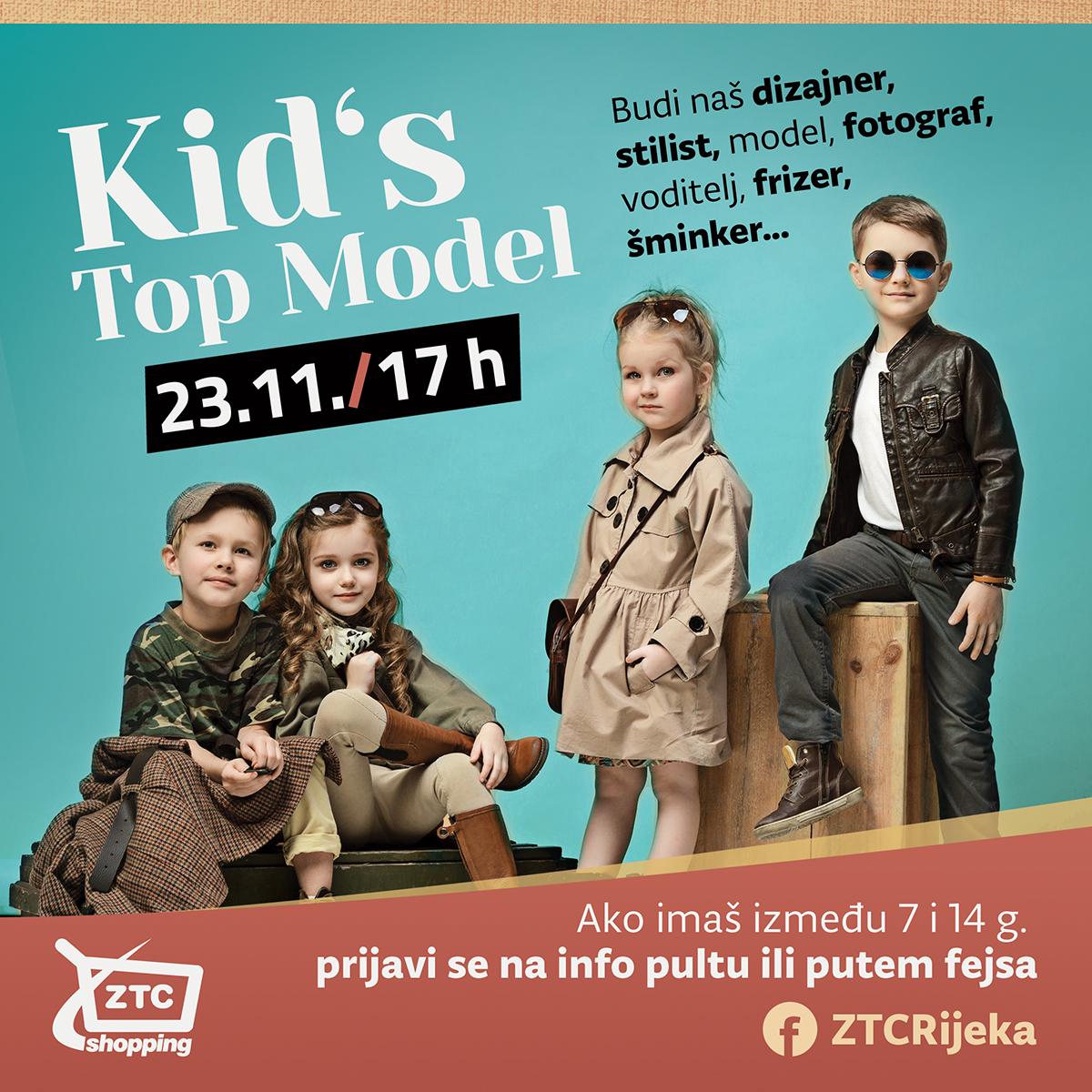 Kid's Top Model se vraća u Zapadni trgovački centar!