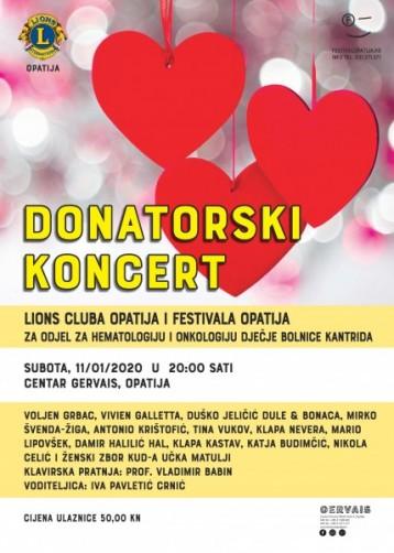 Donatorski koncert za dječju onkologiju na Kantridi u Opatiji
