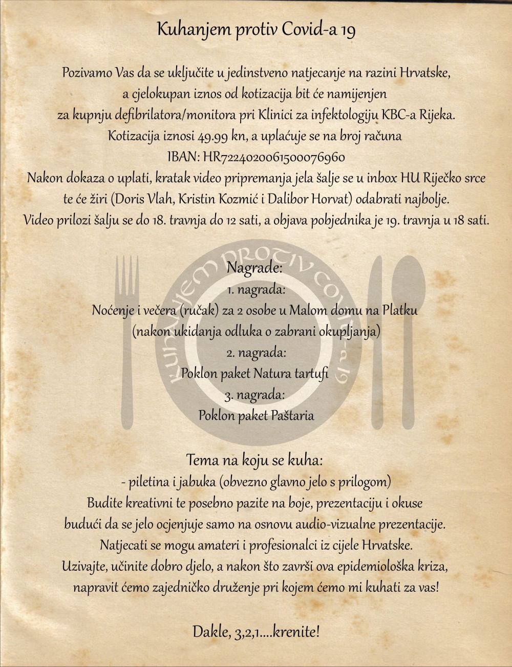 Kuhanjem protiv Covida 19