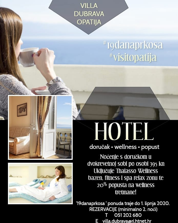 Proljetni odmor u Villi Dubrava za 395 kuna za noćenje s doručkom