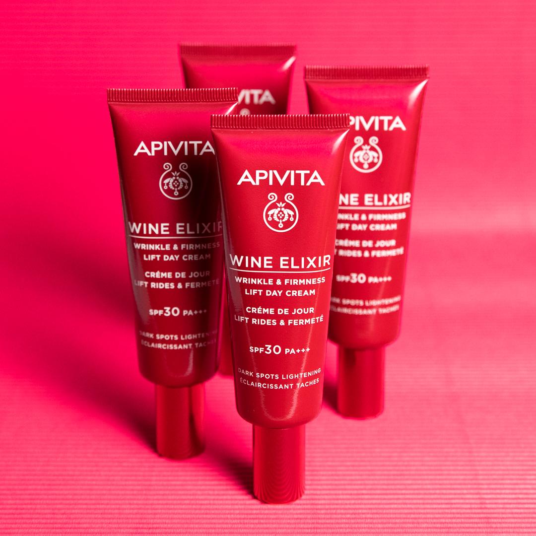 Apivita nadopunila Wine Elixir liniju s laganom dnevnom kremom protiv bora i za učvršćivanje lica sa zaštitnim faktorom SPF30