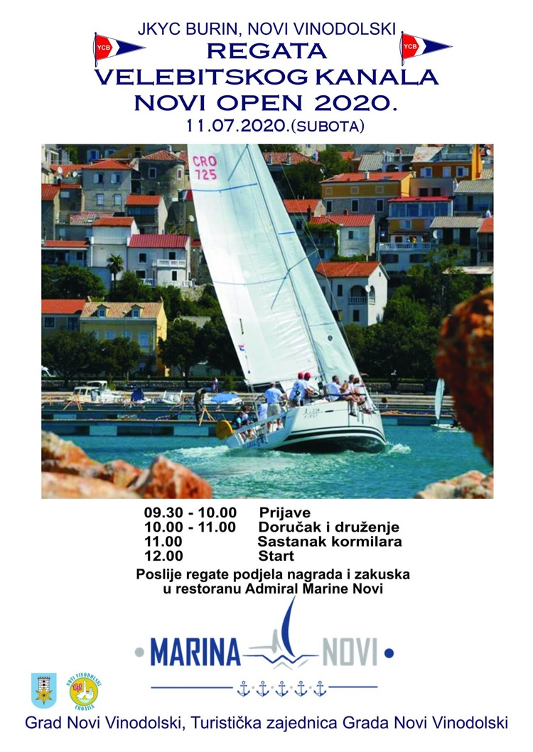Regata Velebitskog kanala - Novi Open 2020