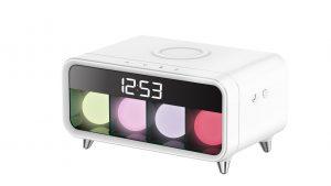Digitalni multifunkcijski sat sa integriranim bežičnim punjenjem i ambijentalnom rasvjetom
