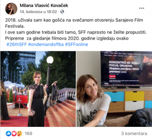 MILANA VLAOVIC KOVACEK FB