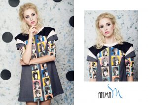 Pop Art On Catwalk by Anima M. - BEATLES DRESS