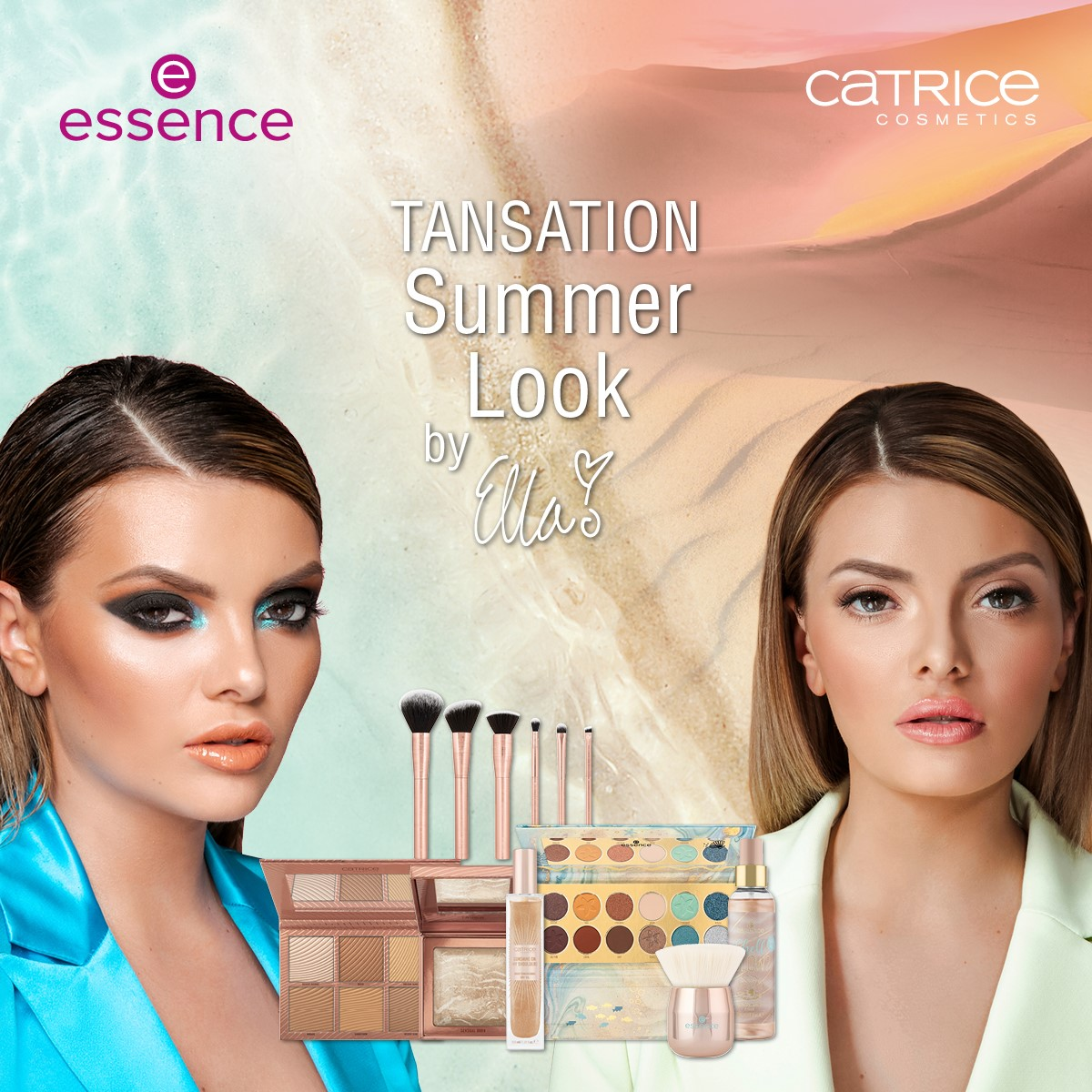 Ella Dvornik: zaštitno lice nove ljetne essence & Catrice limitirane make up kolekcije - TANsation
