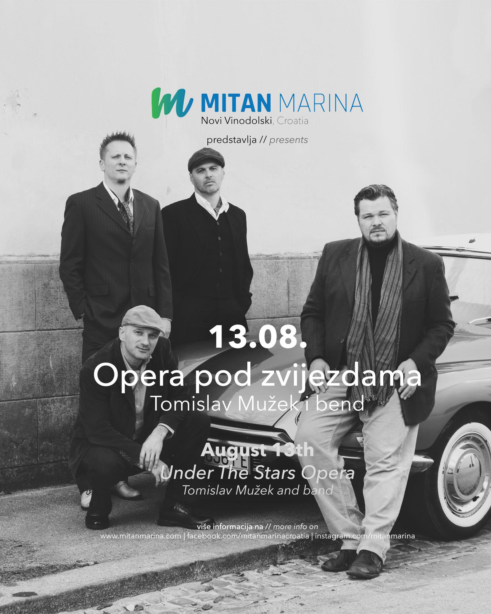 """""""Opera pod zvijezdama"""" uz Tomislava Mužeka u Mitan Marini"""