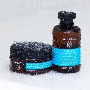 Apivita_maska i šampon za dubinsku hidrataciju kose