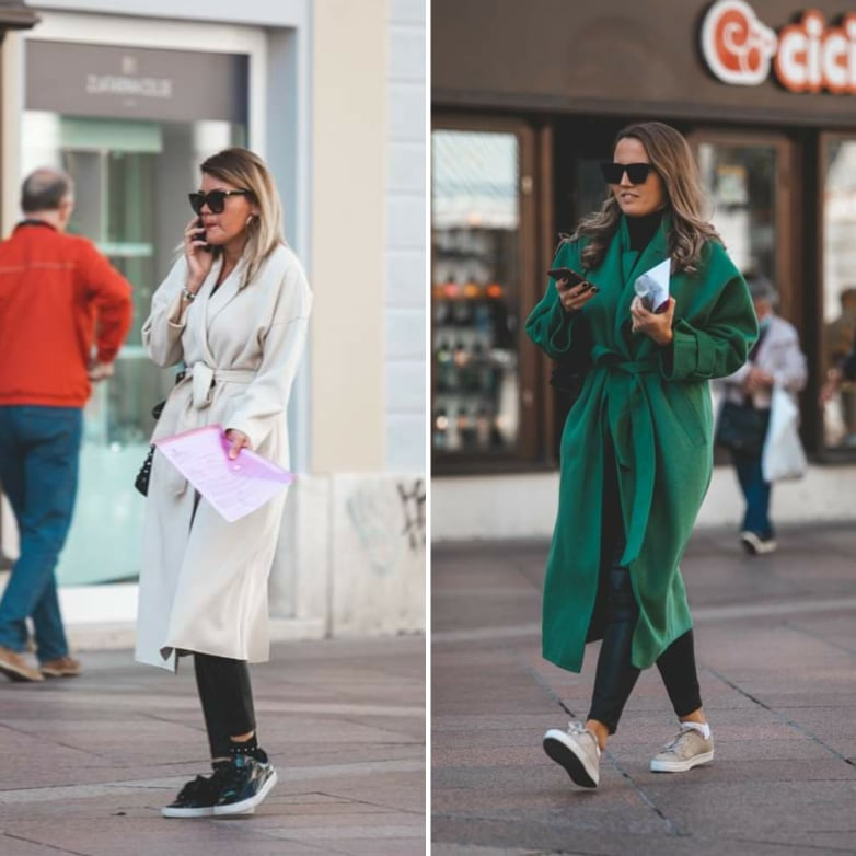Extravagant Streetstyle: kaput kao mantil je IN!