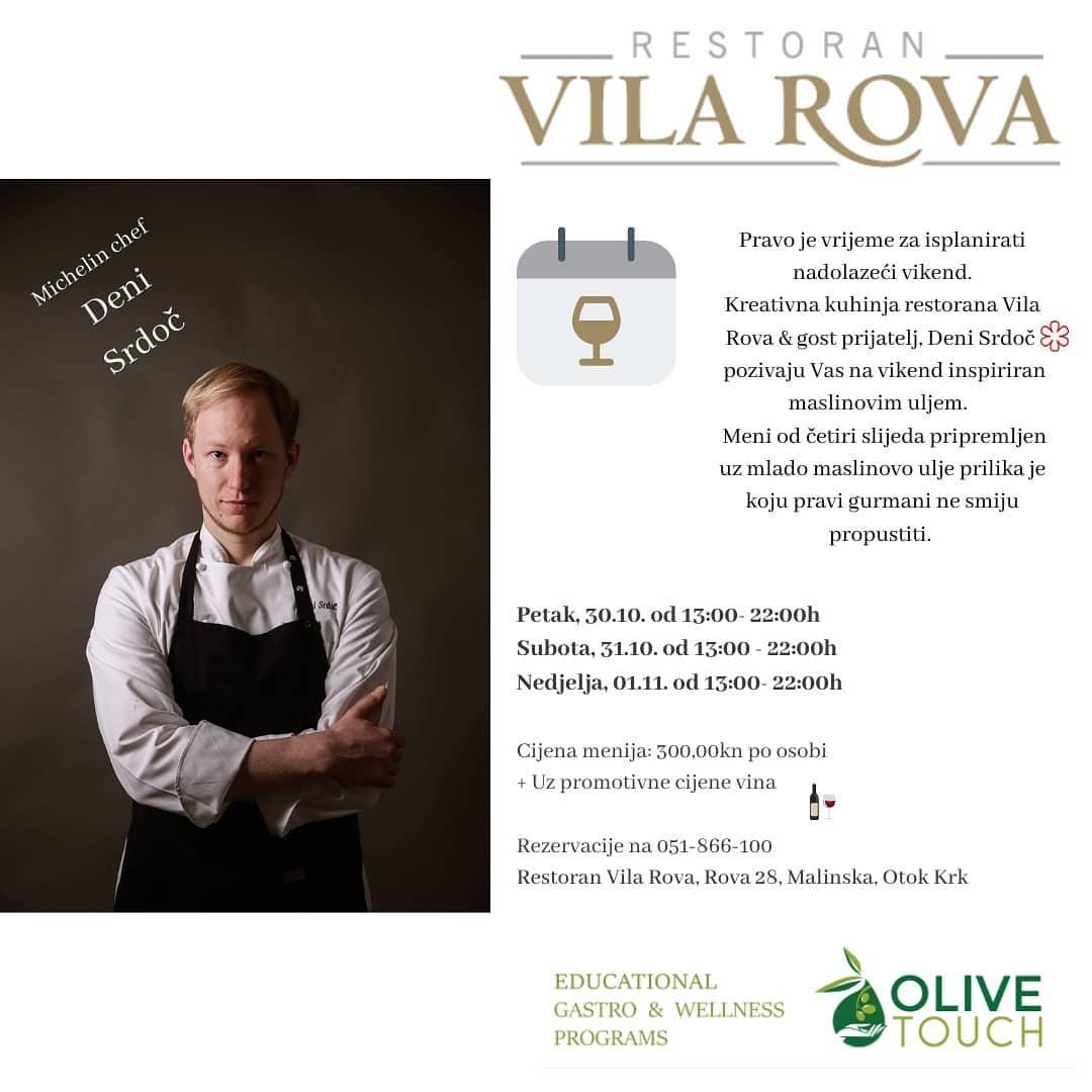U restoran Vila Rova stiže Michelin chef Deni Srdoč!