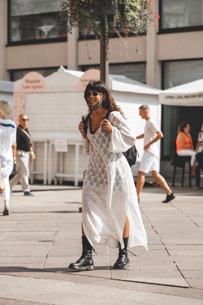 Extravagant Streetstyle: boho chic na crno bijeli način!