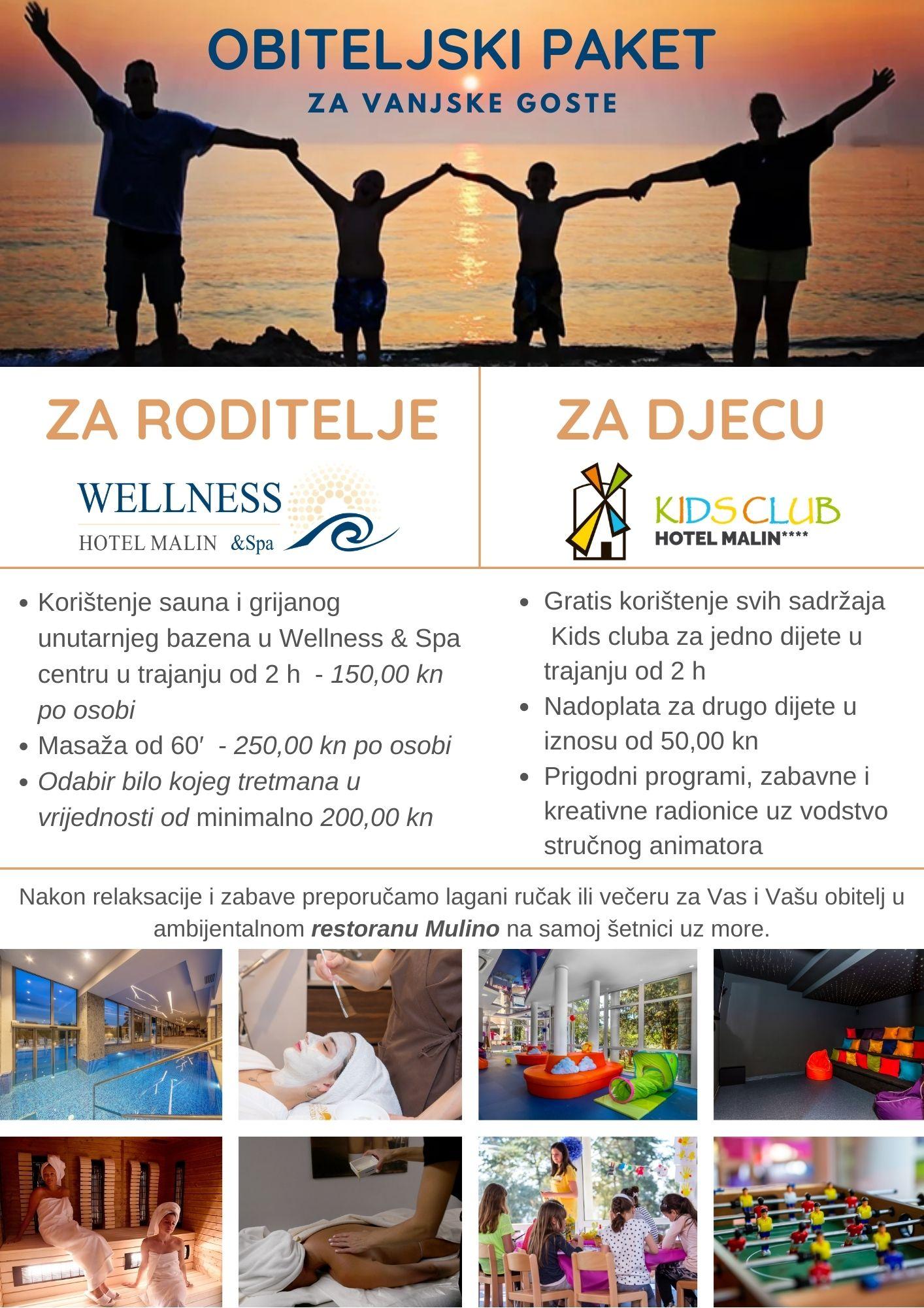 Prijedlog za odmor i uživanje: obiteljski wellness i kids club u Hotelu Malin!