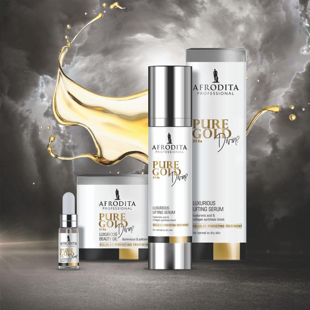 Kozmetika Afrodita slavi 50 godina uspjeha zlatnom linijom Pure Gold Divine Afrodita Professional