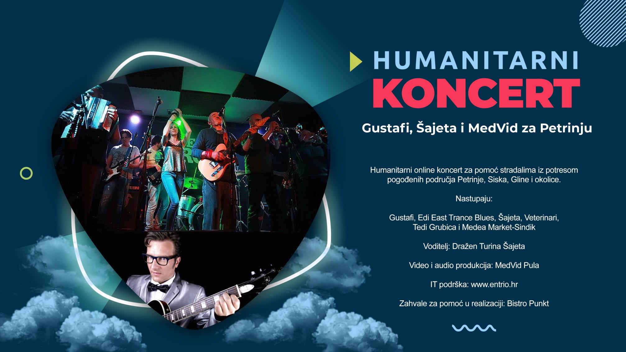 Gustafi, Šajeta i MedVid za Petrinju - online koncert za pomoć potresom pogođenim područjima
