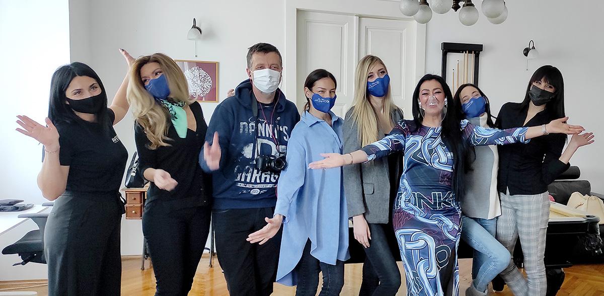 Bili smo na snimanju kampanje novih skincare proizvoda dr. Vivian Jurković