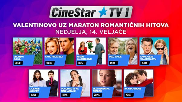 Valentinovo će biti još romantičnije uz filmske hitove na Cinestar TV 1 kanalu