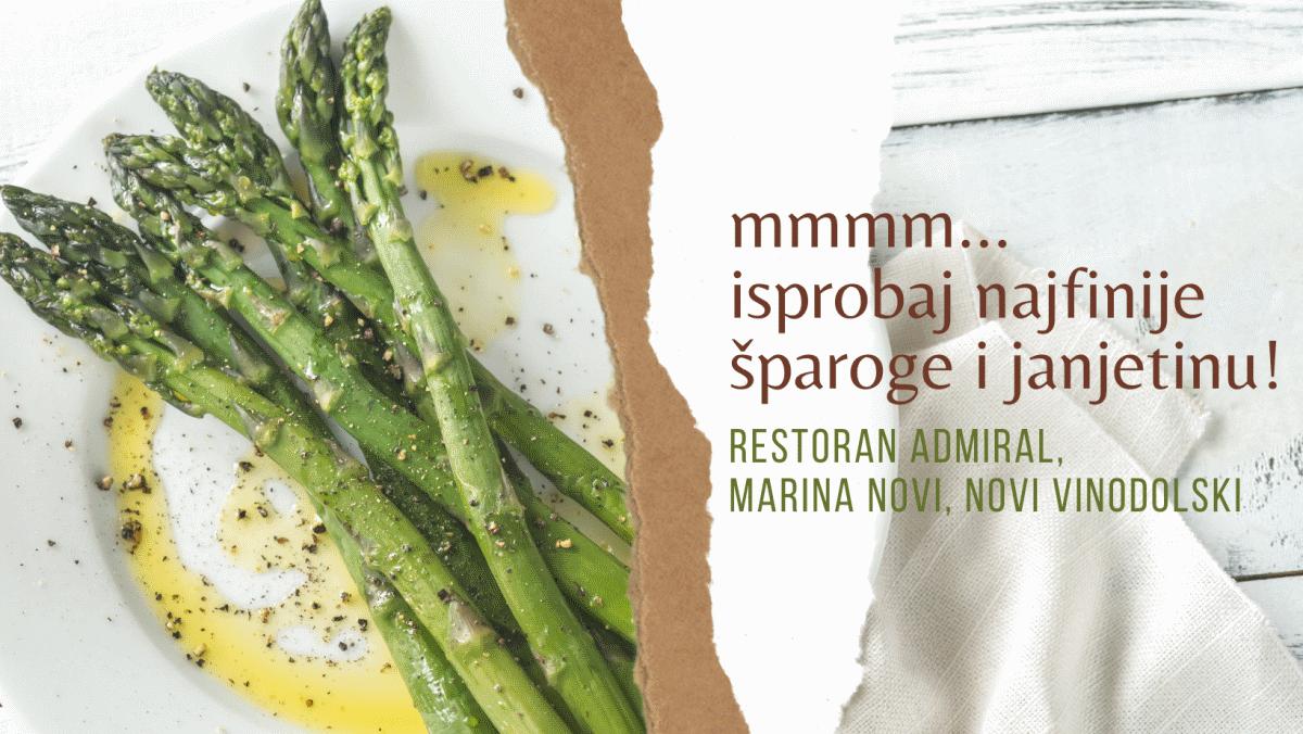 S proljećem stigli dani šparoga i janjetine u restoranu Admiral u Novom Vinodolskom