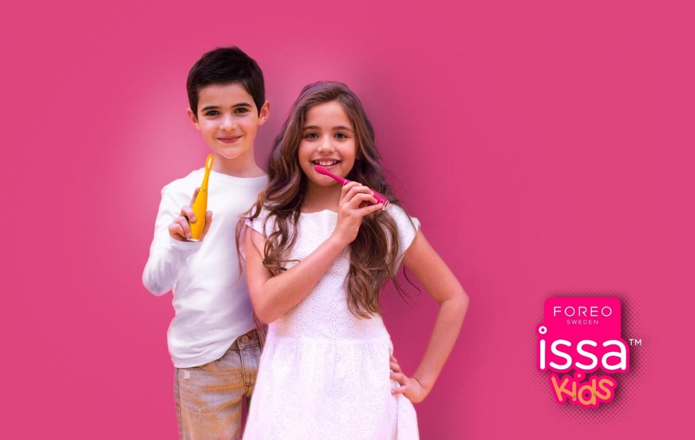FOREO predstavlja ISSA baby i ISSA kids, novu oral care liniju za djecu s najširim osmijehom