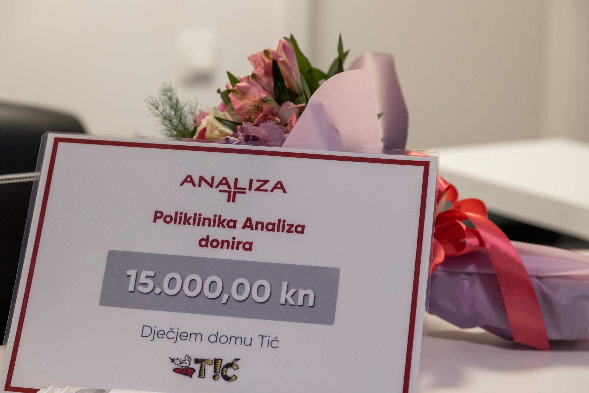 Otvorenje Poliklinike Analiza – umjesto svečanosti, vrijedna donacija Dječjem domu Tić