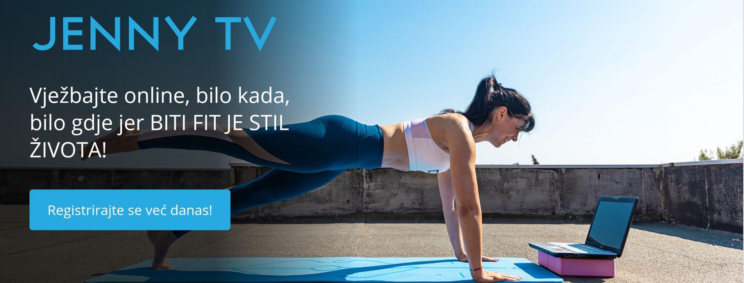 Jenny TV: gdje god se nalazili i u koje god vrijeme vam odgovara vježbanje